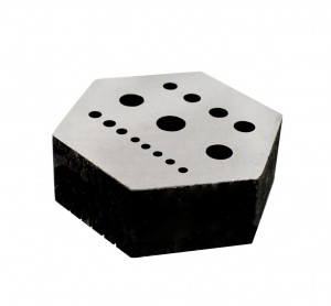 Riveting Hexagonal Stake Large w/ 15 Holes & 5 Serrations