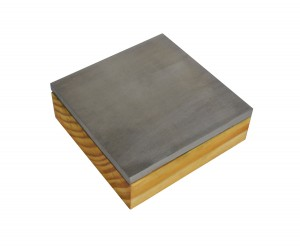 "3"" Hardened Steel Combination Bench Block w/ Wooden Base"