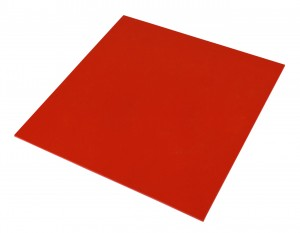 "6"" x 6"" Red Precision Urethane Pad 1/16"" Thickness"