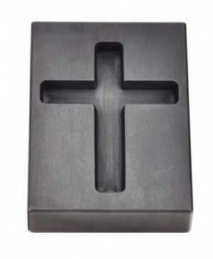 1 Troy Ounce Gold Cross Graphite Ingot Mold