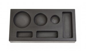 6 Cavity - 1/4, 1/2, 1 Troy Ounce Gold Multi-Cavity Combo Graphite Ingot Mold