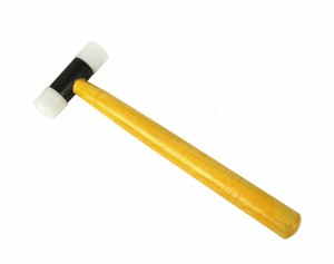 "Nylon Hammer w/ 1"" Faces and Wooden Handle"