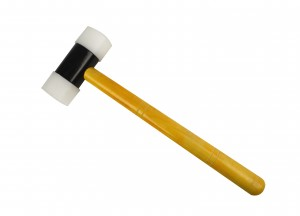 "Hammer Nylon w/Wooden Handle and 1-1/2"" Face"