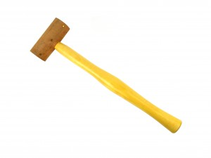 "1-1/4"" Natural Rawhide Leather Mallet"