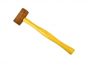 "1-1/2"" Natural Rawhide Leather Mallet"