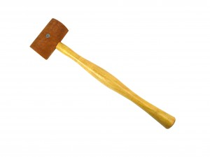 "1-3/4"" Natural Rawhide Leather Mallet"