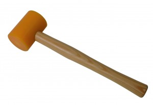 "2-1/2"" Nylon Yellow Hammer w/ Round Wooden Handle"