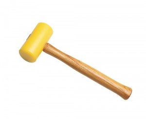 "1-3/4"" Yellow Plastic Mallet"