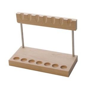 7 Piece Wooden Craft Hammer Stand