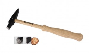 "8-1/2"" Wubbers Artisan's Mark Oval Texture Hammer"
