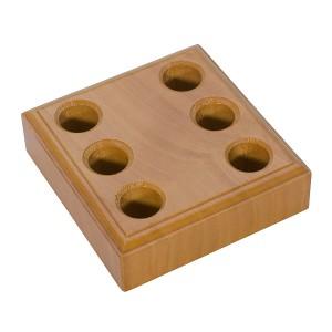 Wood Plier Block w/ 6 Holes
