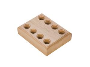 Wooden Plier Block w/ 8 Holes