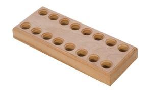 Wooden Plier Block w/ 16 Holes