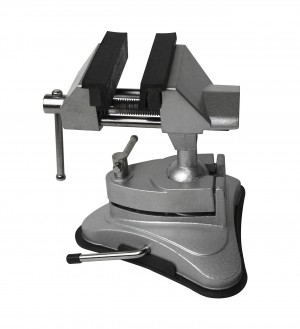 "2-3/4"" Vacuum Base Jeweler's Swivel Tilt Rotating Vise"