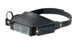 Vinyl Head Strap Magnifier w/ Dual Lights