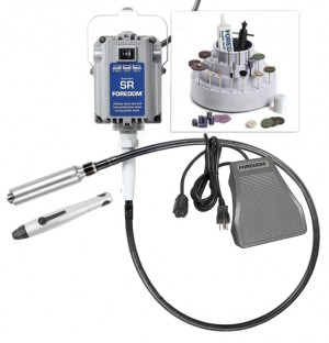 Foredom K.2800 Deluxe Jeweler's Flex Shaft Kit w/ 2 Handpieces & Metal Foot Control