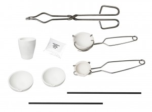 Melting Kit w/ Tongs Borax Graphite Stir Rod and Ceramic Crucibles