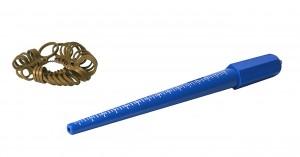 Plastic Ring Sizer and Mandrel Set w/ Sizes 1-15