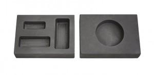 Gold Graphite Ingot Mold 1 oz, 1/2 oz, 1/4 oz + 1 oz Round Silver Mold
