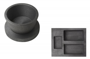 3 Cavity 2, 5, 10 oz Gold Combo Mold and 50 oz Graphite Crucible Cup with Base Set