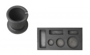 6 Cavity - 1/4, 1/2, 1 oz Combo Mold and 10 oz Graphite Crucible Cup w/ Base Set