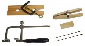 Jewelry Making Tool Kit w/ Saw Frame, Ring Clamp, Bench Pin, and Blades