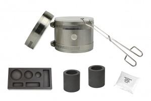 Deluxe Mini Kwik Kiln Propane Furnace w/ 6 Cavity (1/4, 1/2, and 1 oz) Mold