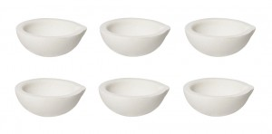 Set of 6 100 Gram 3 oz Ceramic Alumina Crucible Dishes