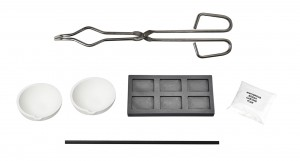 Melting Kit w/ Tong Borax Graphite Stir Rod Multi-Cavity Ingot Mold and Ceramic Crucibles