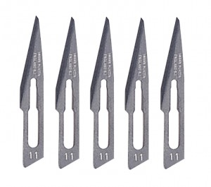 5 Pack - #11 Straight Scalpel Blades