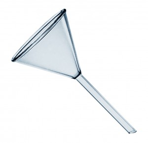 "6-1/2"" Glass Beaker Filling Funnel"