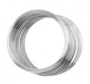"0.25"" Stainless Steel Memory Wire - 1 oz Ring"