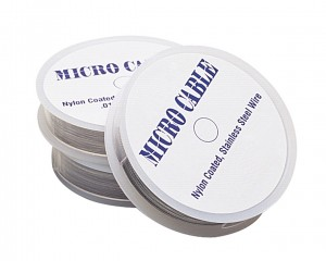 """0.22"""" Stainless Steel Micro Cable Wire - 100 Feet"""