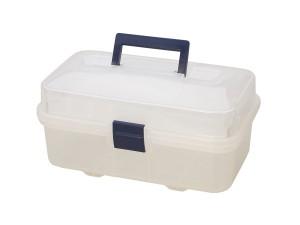 Clear Plastic Storage Box w/ Compartments