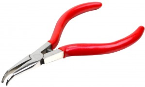"5-1/4"" 45° Bent Chain Nose Pliers"