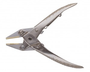 Flat Parallel Pliers w/ Flat Brass Jaws