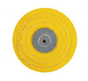 """Knife-Edge Stitched Yellow Muslin Buff - 4"""" x 12 Folds"""