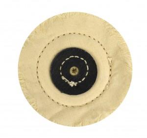 """Stitched White Muslin Buff - 4"""" x 50 Folds"""