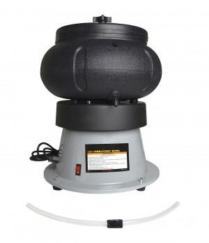 Heavy-Duty Vibratory Tumbler - 110V 18 Lb Capacity w/ Liquid Drain Hose
