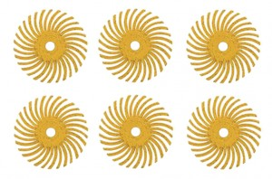 "6 Pack 1"" Yellow 80 Grit 3M Micron Radial Disc Set"