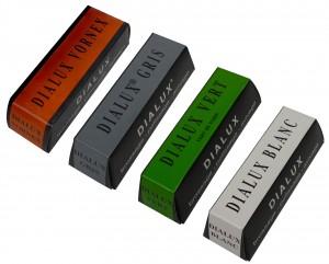 4 Pack 4 Oz Orange Green Gray White Dialux Polishing Compound Set
