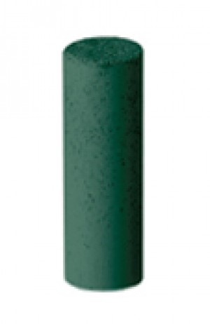 Gold Polishers Unmounted - Medium Grit Green Cylinder, Pk/100