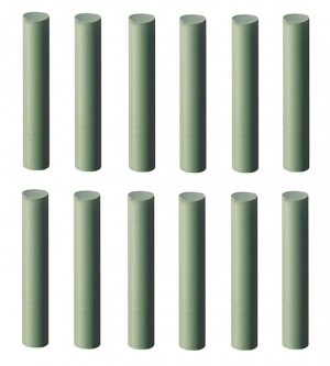 12/Pk 3 MM Extra Fine Polishing Pins -  Green