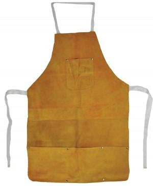 "22"" x 32"" Heat-Resistant Cowhide Leather Apron w/ Pockets"