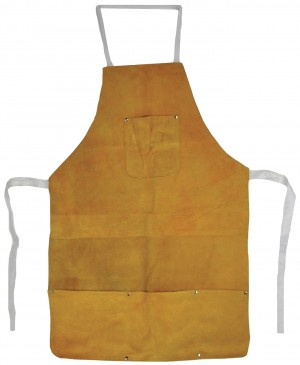 "22"" x 32"" Heat-Resistant Cowhide Leather Apron w/ Pockets"