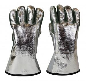 "Aluminized Carbon Heat-Resistant Kevlar® 13"" / 18 oz Melting Furnace Gloves"