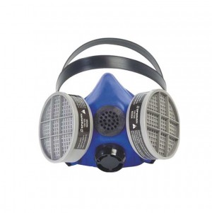 Honeywell Silicone Blue Large 1 Half Mask S Series Medium Respirator w/ Speaking Diaphragm