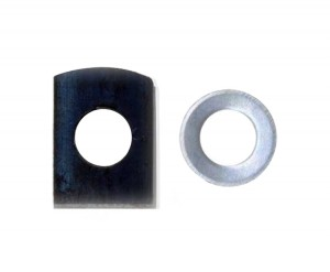 Pack of 2 Round and Rectangular Washers for Holding Blades