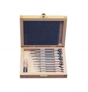 9 Piece Screwdriver Set w/ Wooden Box