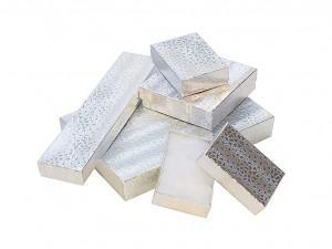 "100 Silver Gift Boxes - 3-1/4"" x 2-1/4"" x 1"" (#3)"